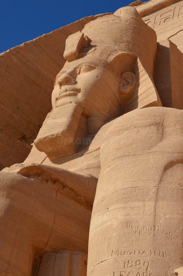 Cara de Abu Simbel Temple, Egipto antiguo fotos de archivo