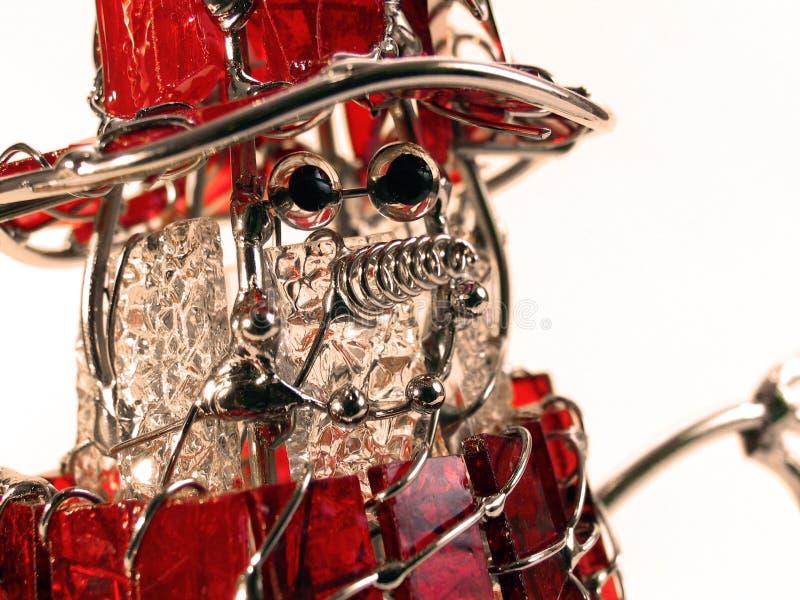 Cara de cristal del muñeco de nieve imagen de archivo