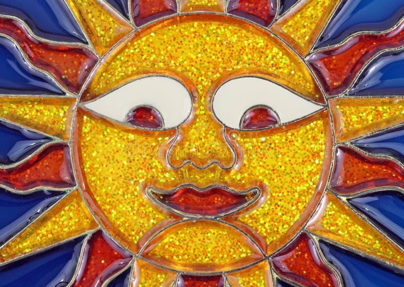 Cara de cristal plomada sonriente del sol foto de archivo