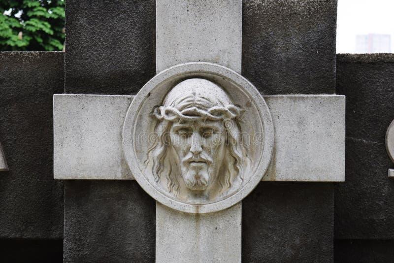 Cara de Jesus Christ no monumento fotos de stock royalty free