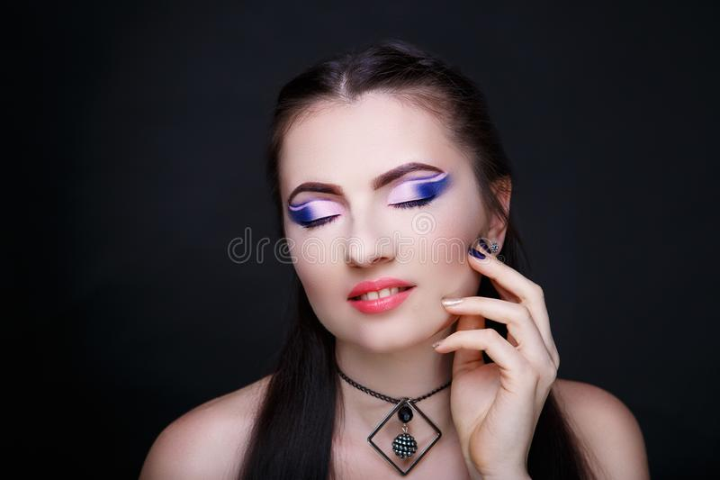 Cara de la belleza de la mujer imágenes de archivo libres de regalías