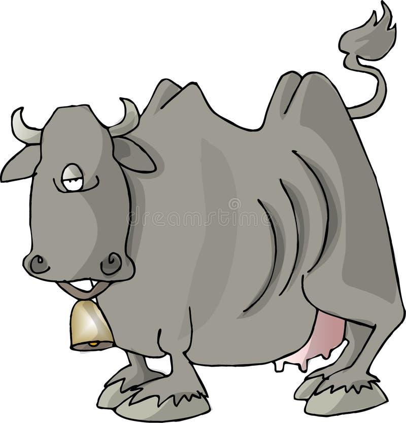 Cara de la carne de vaca ilustración del vector
