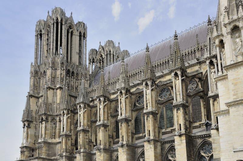 Cara de la catedral, Reims imágenes de archivo libres de regalías