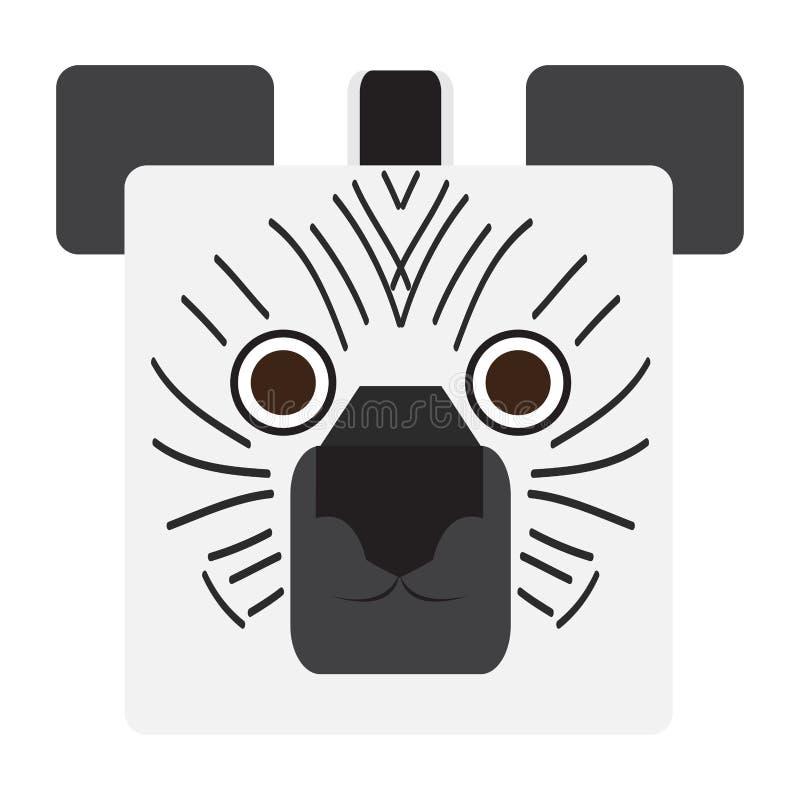 Cara de la cebra stock de ilustración