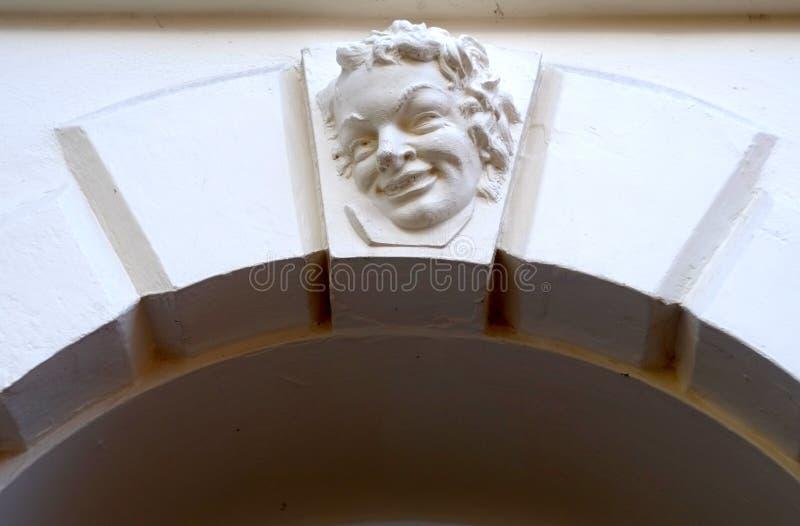 Cara de la entrada fotografía de archivo libre de regalías