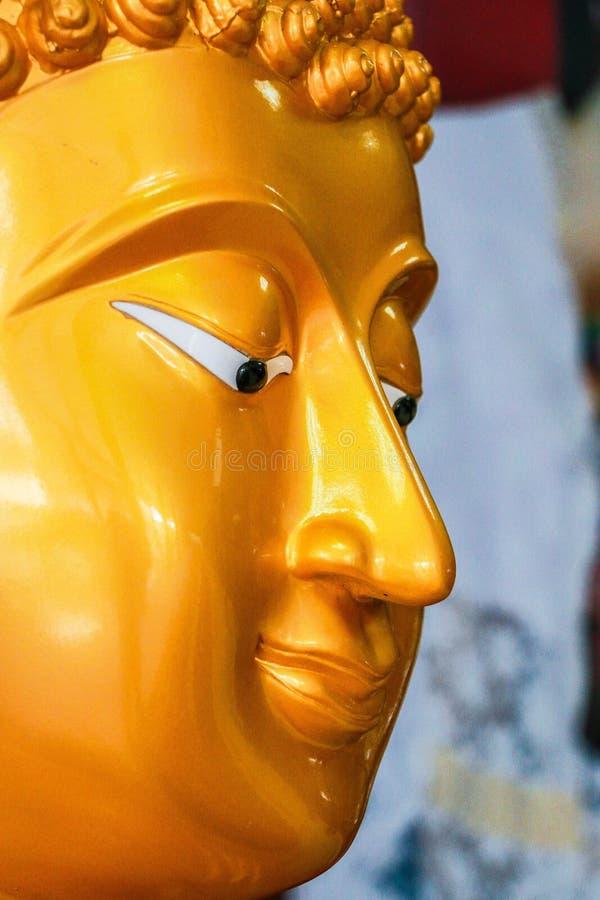 Cara de la estatua de Buddha foto de archivo