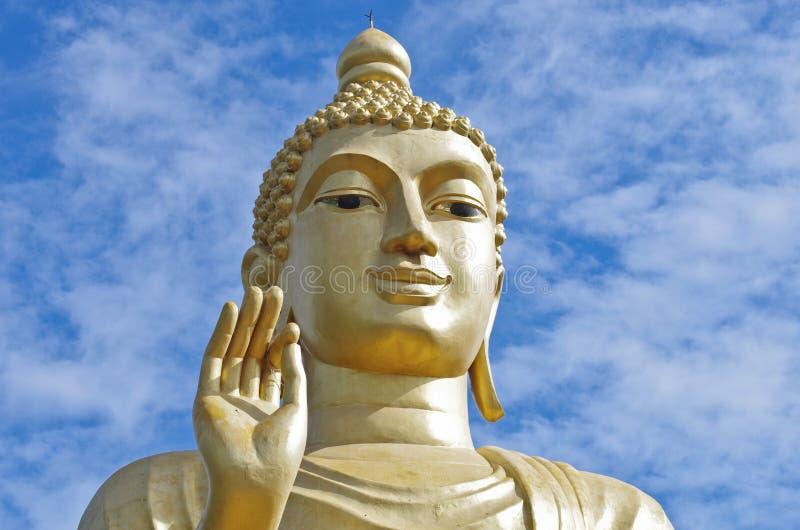 Cara de la estatua de Buddha imagen de archivo libre de regalías