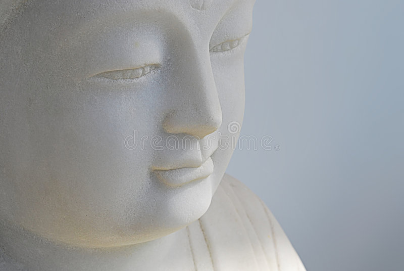 Cara de la estatua de Buddha fotografía de archivo