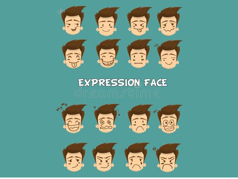 Cara de la expresión libre illustration