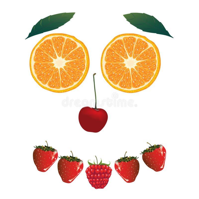 Cara de la fruta ilustración del vector
