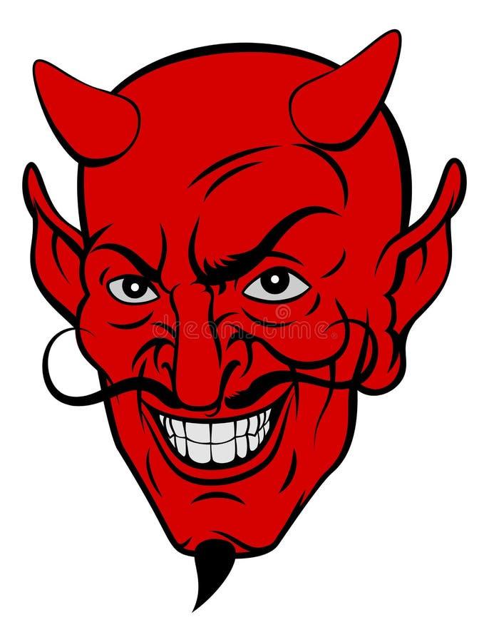 Cara de la historieta del diablo stock de ilustración