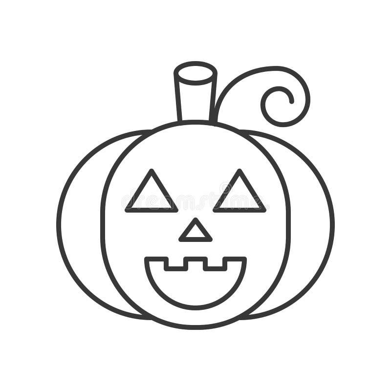Cara de la linterna de Jack o, movimiento editable del icono del carácter de Halloween ilustración del vector