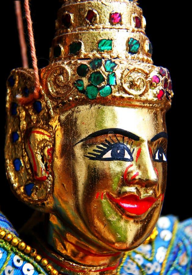 Cara de la marioneta de Tailandia fotografía de archivo