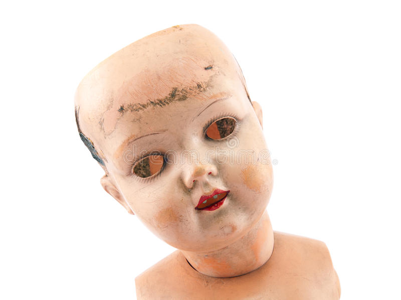 Cara de la muñeca imagen de archivo