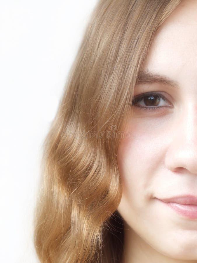 Cara de la muchacha foto de archivo libre de regalías