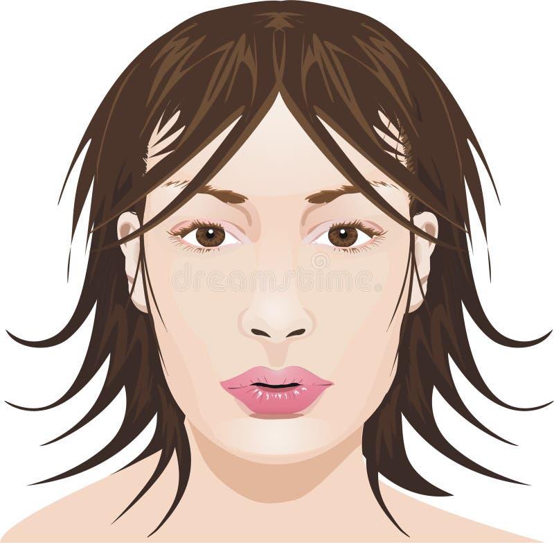 Cara de la muchacha imagen de archivo