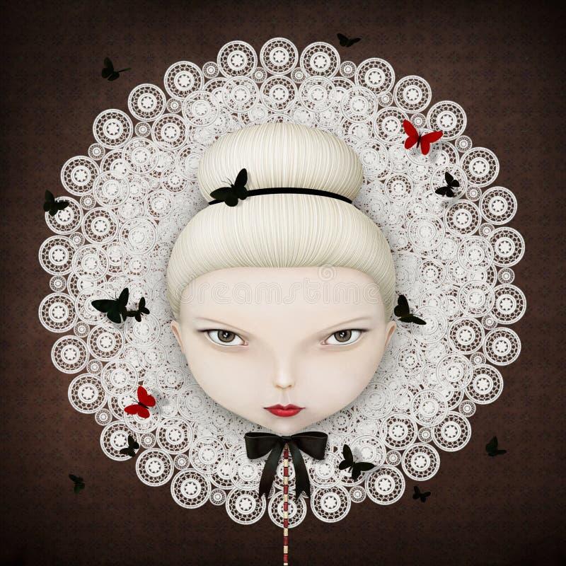 Cara de la muchacha ilustración del vector