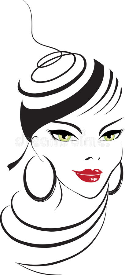 Cara de la mujer stock de ilustración