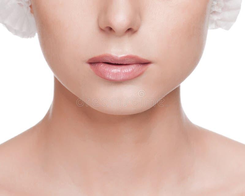Cara de la mujer, antes del operetion de la cirugía imágenes de archivo libres de regalías