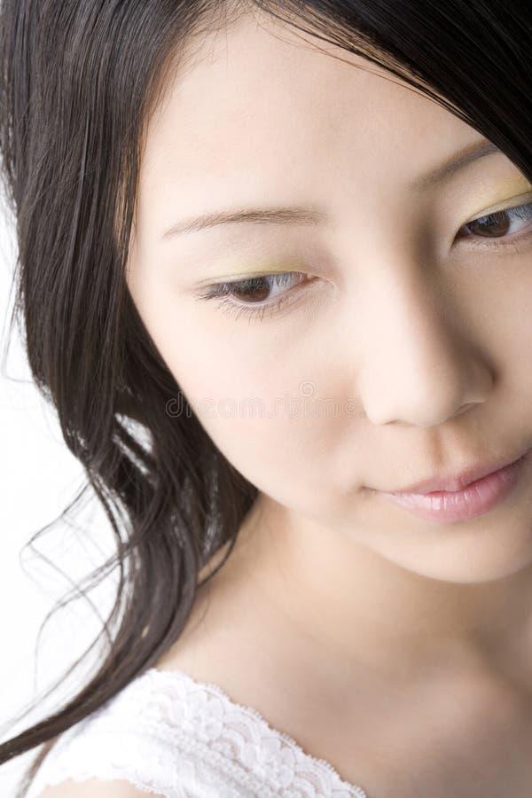Cara de la mujer japonesa imagen de archivo
