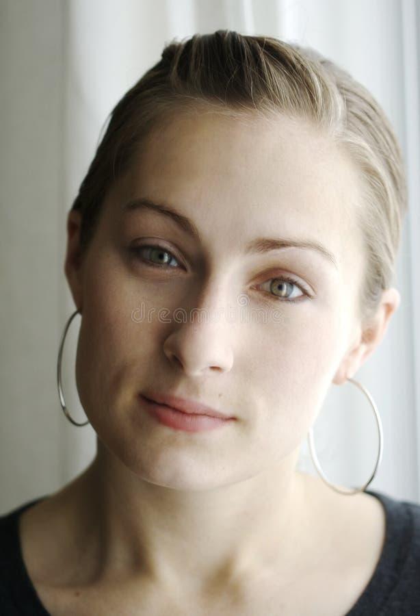 Cara de la mujer sincera imagen de archivo libre de regalías