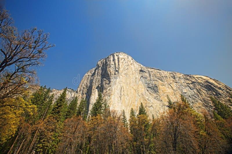 Cara de la roca del EL Capitan fotos de archivo libres de regalías