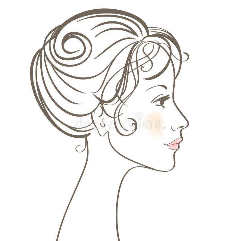 Cara de las mujeres de la belleza stock de ilustración