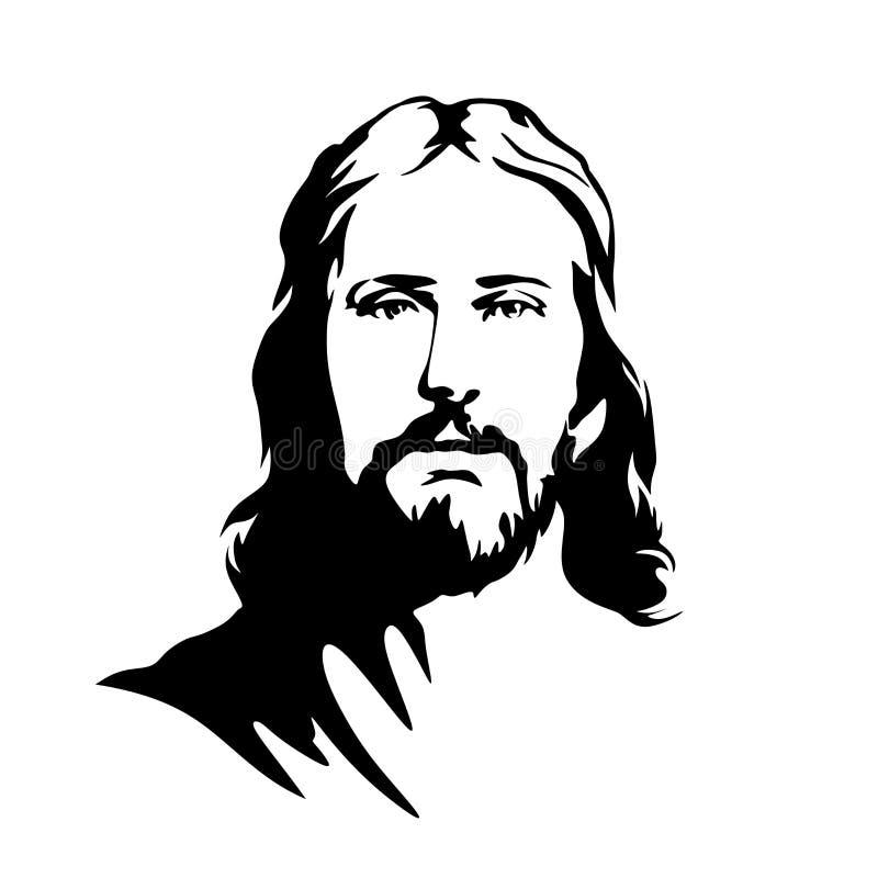Cara de Lord Jesus Christ ilustração stock
