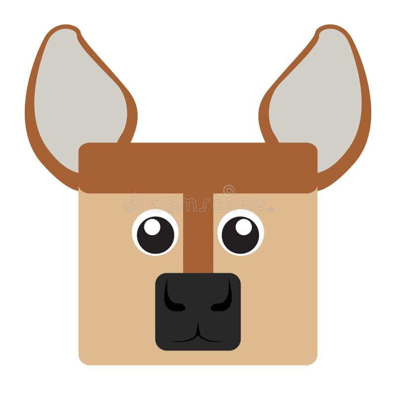 Cara de los ciervos stock de ilustración