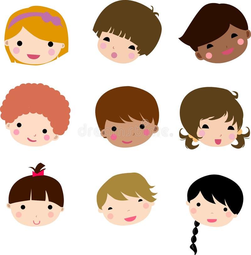 Cara de los niños de la historieta libre illustration