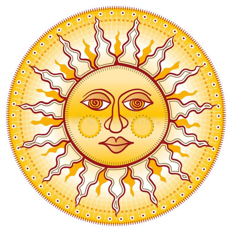 Cara de oro ilustración del vector