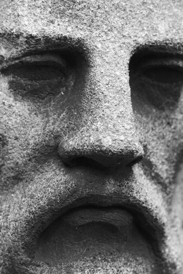 Cara de pedra imagens de stock
