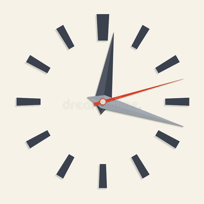 Cara de reloj analogica stock de ilustración