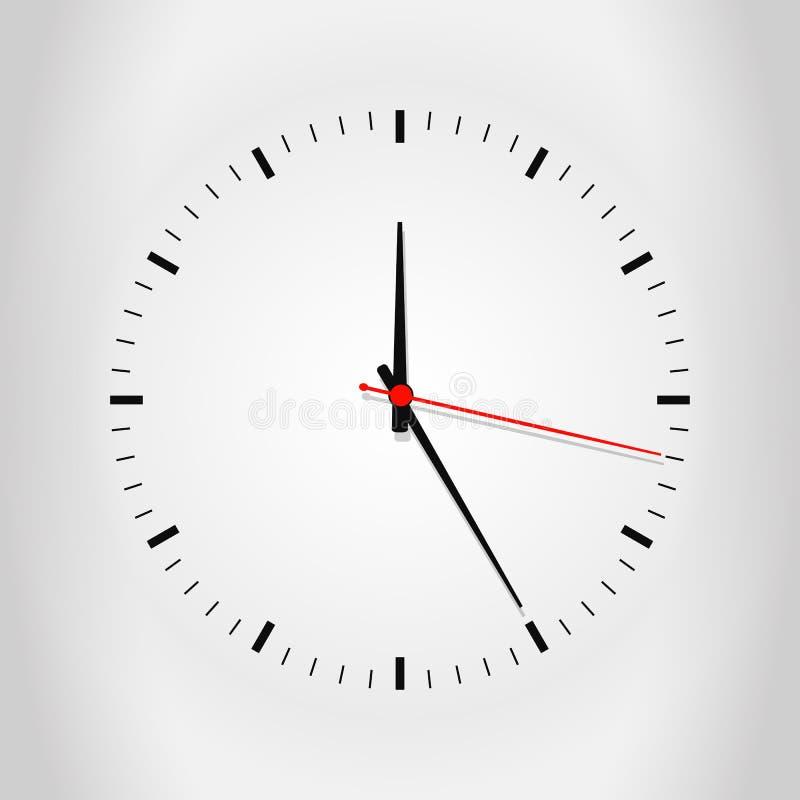 Cara de reloj con la sombra fotos de archivo libres de regalías
