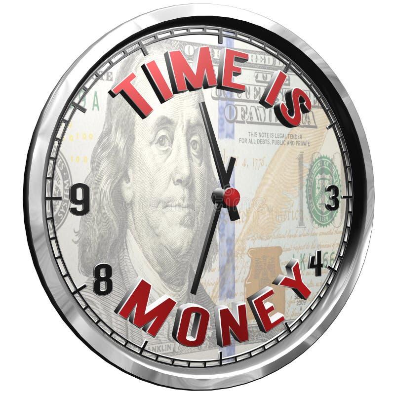cara de reloj del ejemplo 3D con el texto el tiempo es oro libre illustration