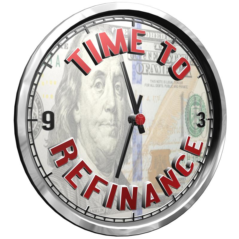 cara de reloj del ejemplo 3D con tiempo del texto para financiar de nuevo ilustración del vector