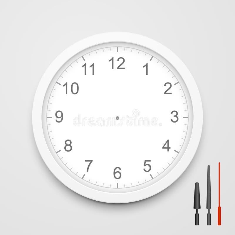 cara de reloj del espacio en blanco del vector 3d ilustración del vector