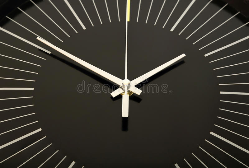 Cara de reloj negra imágenes de archivo libres de regalías