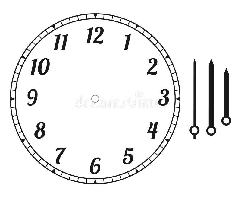 Cara de reloj redonda stock de ilustración
