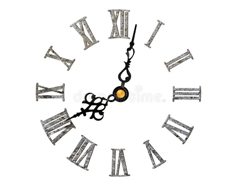 Cara de reloj romana imagen de archivo