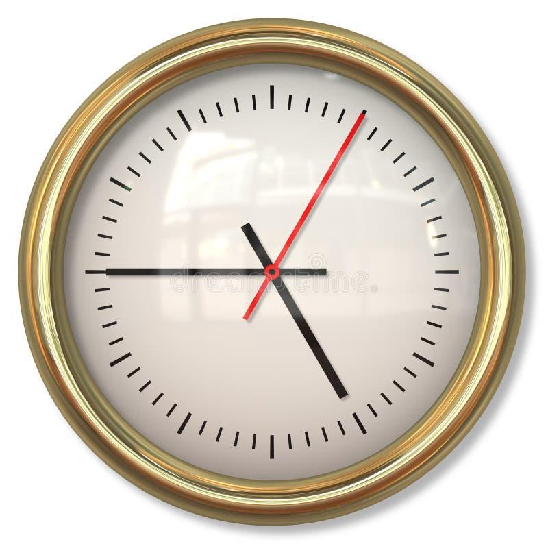 Cara de reloj simple clásica con las flechas en los fondos blancos libre illustration