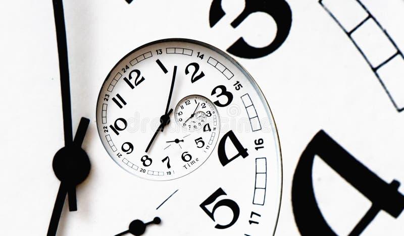 Cara de reloj torcida generada Digitaces. imágenes de archivo libres de regalías