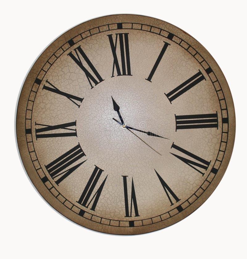 Cara de reloj vieja fotografía de archivo libre de regalías