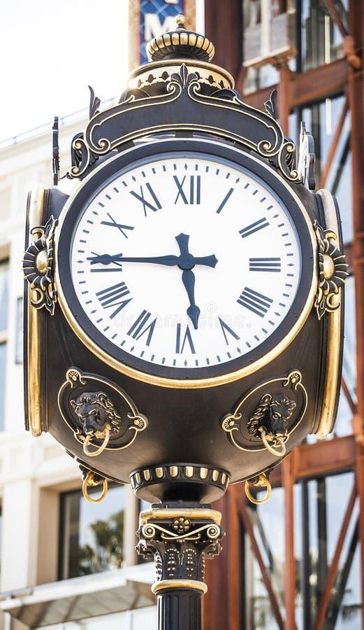 Cara de reloj vieja americana fotografía de archivo