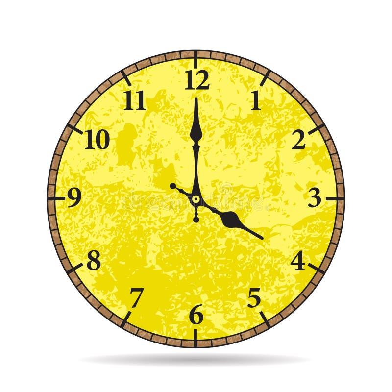 Cara de reloj vieja del vector Viejas épocas foto de archivo