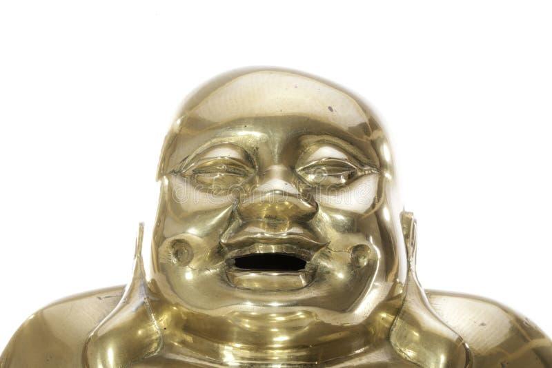 Cara de riso feliz de um buddha de bronze tradicional imagens de stock royalty free