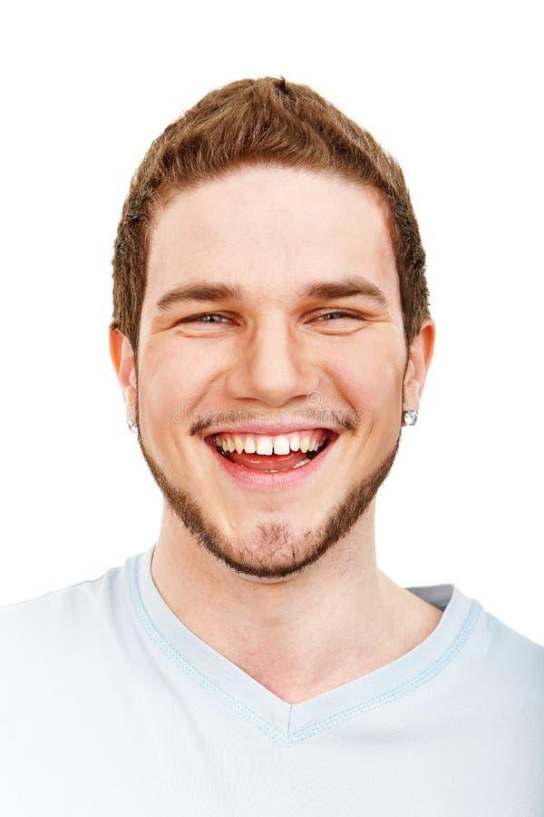 Cara de sorriso do homem novo imagens de stock