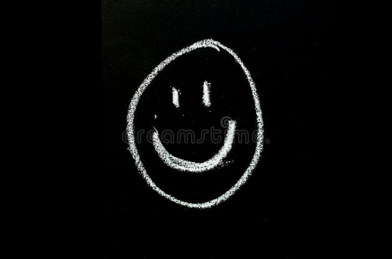 Cara de sorriso tirada no quadro foto de stock