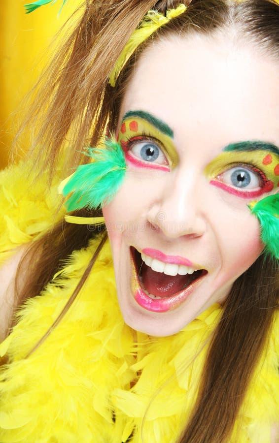 Cara de una muchacha con rostro creativo imagen de archivo
