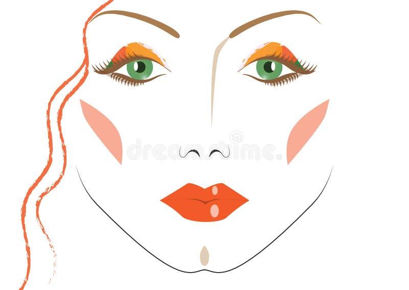 Cara de una mujer hermosa fotos de archivo